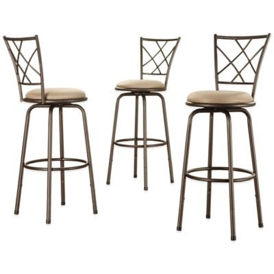 Verona Home Fulton Adjustable Swivel Barstool (Set of 3)
