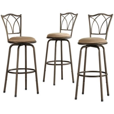Verona Home Filmore Adjustable Swivel Barstool (Set of 3)
