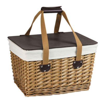 Picnic Time Canasta Picnic Basket in Natural Finish
