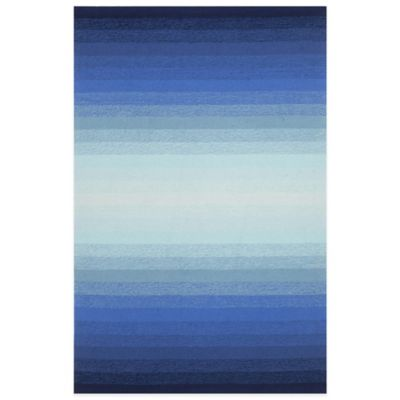 Trans-Ocean Ravella Ombre 5-Foot x 7-Foot 6-Inch Indoor/Outdoor Area Rug in Aqua