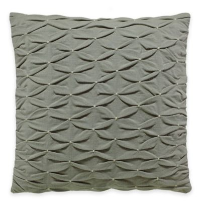 Beekman 1802 Minetto Smocked Square Throw Pillow in Concrete