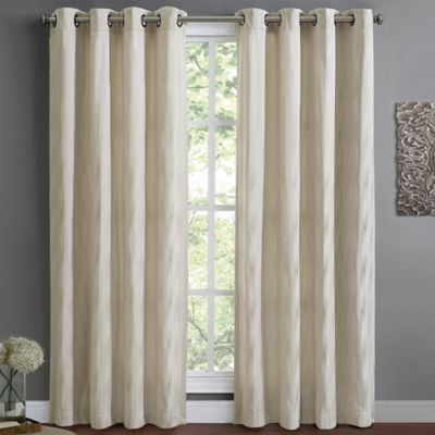 Wyatt Lined 63-Inch Window Curtain Panel in Silver