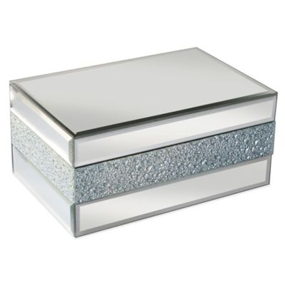 Allure by Jay Pebbled Mirror Jewelry Box
