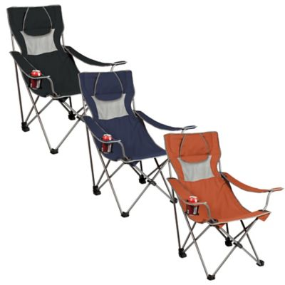 Picnic Time® Campsite Chair in Navy/Grey