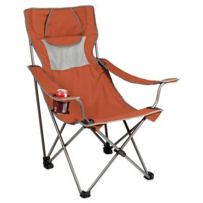 Picnic Time® Campsite Chair in Burnt Orange/Grey