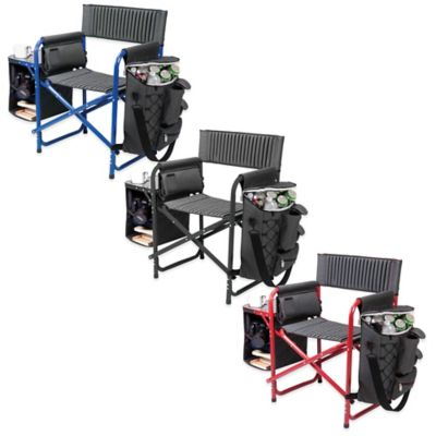 Picnic Time® Fusion Chair in Dark Grey/Blue
