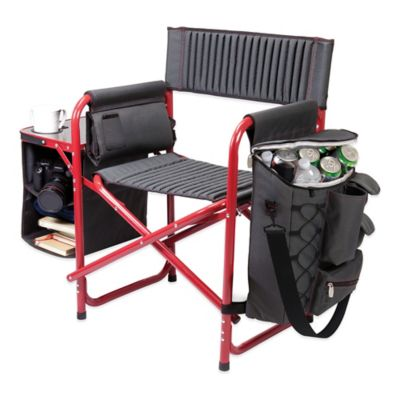Picnic Time® Fusion Chair in Dark Grey/Red