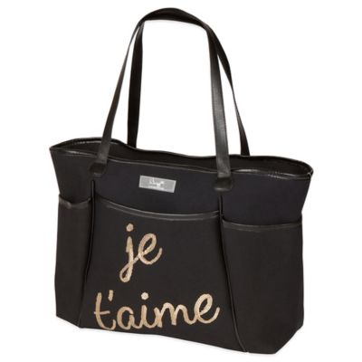 The Bumble Collection® Je'taime Sequin Zipper Tote in Black