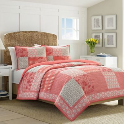 Nautica® Landvale King Quilt in Coral