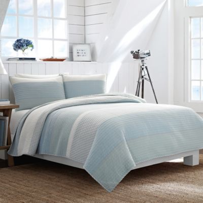 Nautica® Cliffwood Twin Quilt in Seafoam
