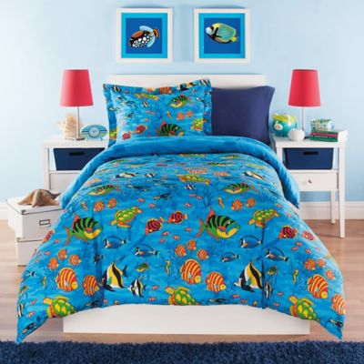 Under the Sea Reversible Full Comforter Set in Multi