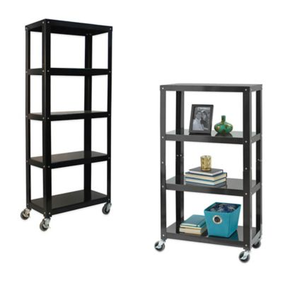 Black 3 Tier Shelves