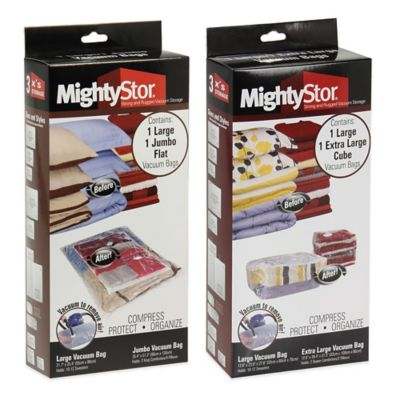 Household Essentials® MightyStor 2-Piece Vacuum Storage Cube Combo Set
