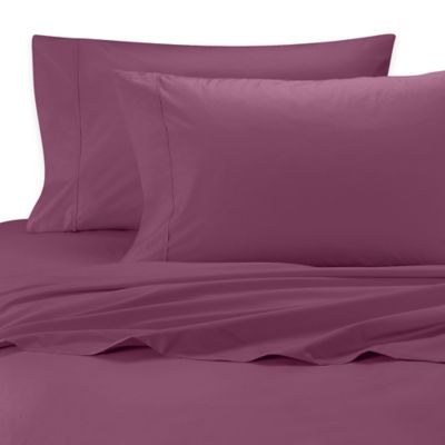 SHEEX® Rayon Made from Bamboo King Sheet Set in Cranberry