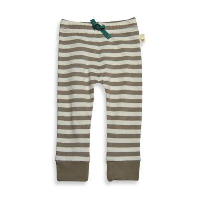 Burt's Bees Baby™ Size 3M Organic Cotton Stripe Pant in Mushroom