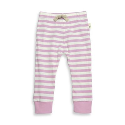 Burt's Bees Baby™ Newborn Organic Cotton Stripe Pant in Orchid