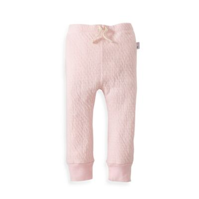 Burt's Bees Baby® Newborn Organic Cotton Quilted Pant in Pink
