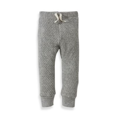 Burt's Bees Baby® Newborn Organic Cotton Quilted Pant in Grey