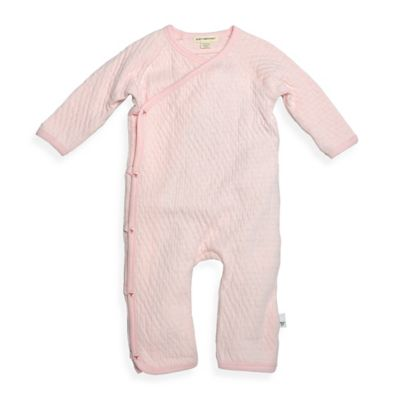 Burt's Bees Baby™ Newborn Organic Cotton Quilted Kimono Footless Coverall in Pink