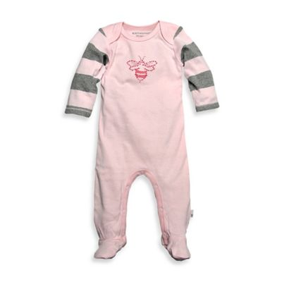 Burt's Bee's Baby™ Newborn Organic Cotton Bee Coverall in Pink