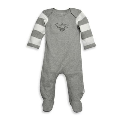 Burt's Bee's Baby™ Newborn Organic Cotton Bee Coverall in Grey