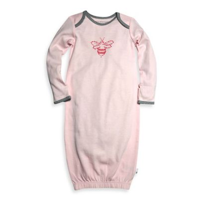 Burt's Bees Baby® Size 0-9M Organic Cotton Bee Gown in Pink