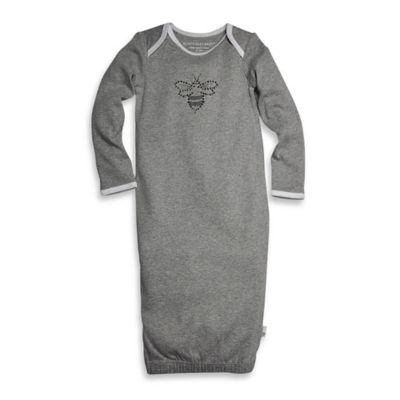 Burt's Bees Baby® Size 0-9M Organic Cotton Bee Gown in Grey