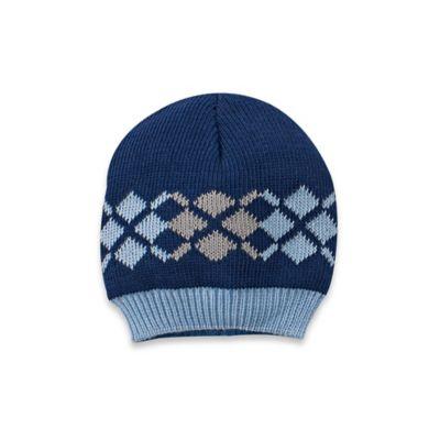 So'Dorable Size 0-6M Argyle Stripe Knit Hat in Navy