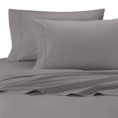 SHEEX® Iced Cotton Performance Queen Sheet Set in Charcoal