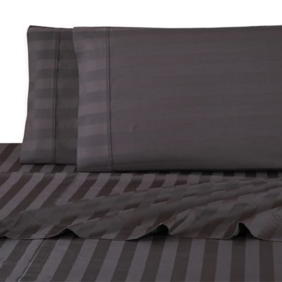 Gray Striped Sheet Set