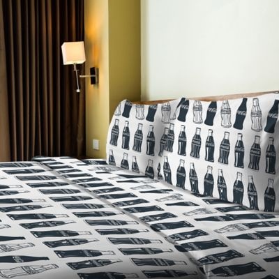 Coca-Cola® Bottles Twin Sheet Set in Multi