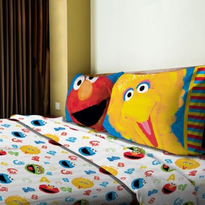 Sesame Street® Big Chalk Fun Twin Sheet Set in Multi