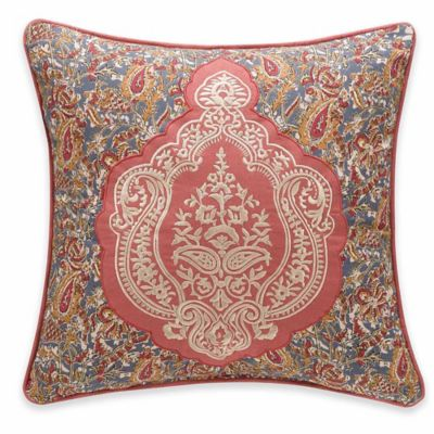Delphine Square Throw Pillow in Russet