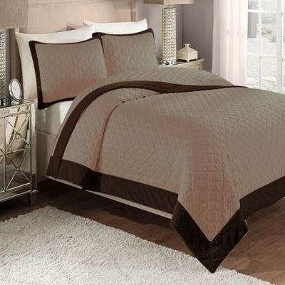 Estate Monroe King Quilt Set in Taupe