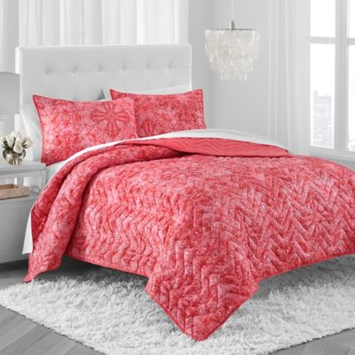 Amy Sia® Arcadia Quilt Set in Coral