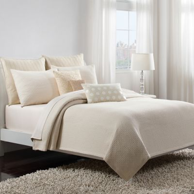 Catherine Malandrino Metro European Coverlet Pillow Sham in Grey
