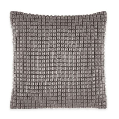 Catherine Malandrino Metro Blanca Square Throw Pillow in Plum