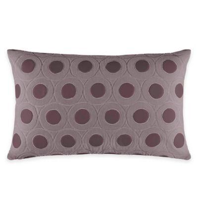 Catherine Malandrino Metro Mya Oblong Throw Pillow in Plum
