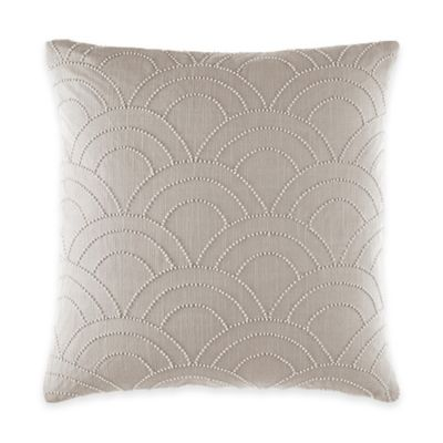 Catherine Malandrino Metro Adrian Square Throw Pillow in Ivory