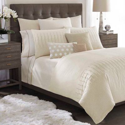 Catherine Malandrino Metro Full/Queen Duvet Cover in Ivory