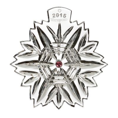 Waterford® Snowflake Wishes 2015 Christmas Ornament