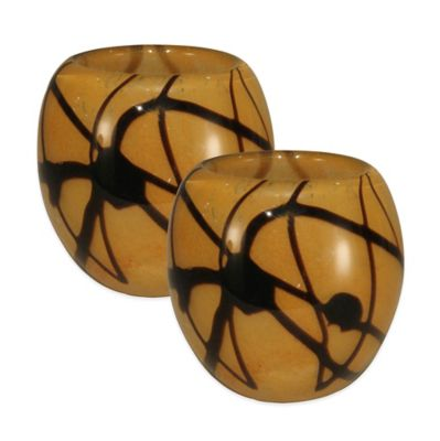 Dale Tiffany™ San Luis Glass Candle Holder (Set of 2)