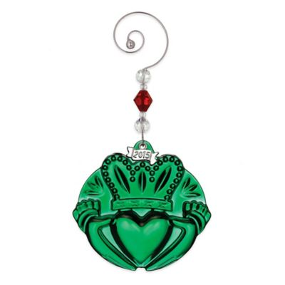 Waterford® 2015 Annual Green Claddagh Ornament