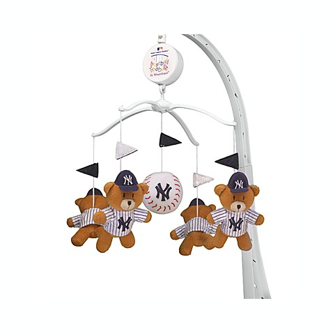 mlb yankees musical crib mobile buybuy baby. Black Bedroom Furniture Sets. Home Design Ideas