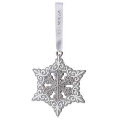 Wedgewood® Pierced Snowflake Ornament