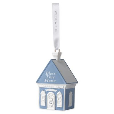 Wedgwood® Bless This Home Ornament in Blue