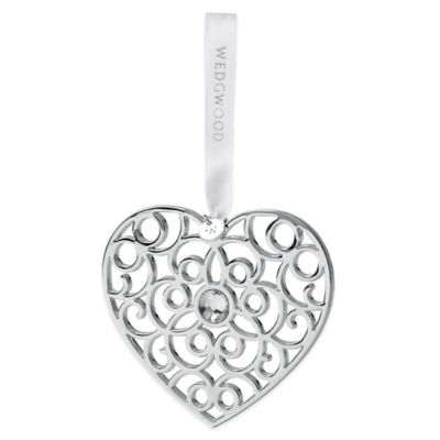 Wedgwood® Filigree Silver Heart Ornament