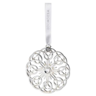 Wedgwood® Pierced Star Silver Ornament