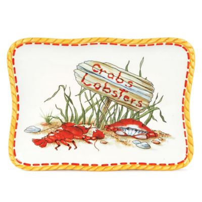 "Fitz and Floyd® Clam Bake ""Crabs & Lobsters"" Snack Plate"