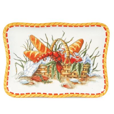 Fitz and Floyd® Clam Bake Bread Basket Snack Plate